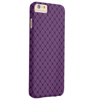 Gothic Black and Purple Pattern Barely There iPhone 6 Plus Case