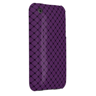 Gothic Black and Purple Pattern iPhone 3 Cover