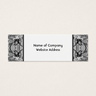 Gothic Black and White Pattern. Mini Business Card