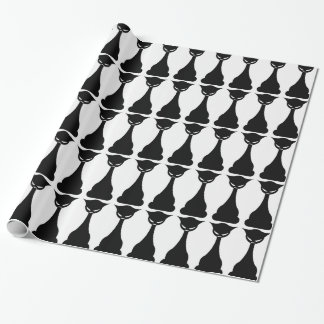 Gothic black cat silhouette wrapping paper