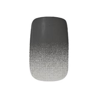 Gothic Black & Grey Minx Nail Art