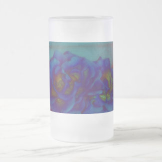 """Gothic Blue"" by JEANNE Frosted Glass Beer Mug"