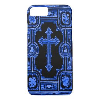 Gothic Blue Cross Decorative Artwork iPhone 7 Case