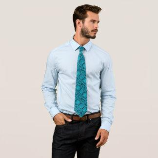 Gothic Blue Reaper Silk Foulard Tie