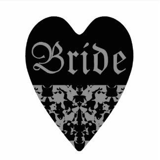 Gothic Bride heart photosculpture Standing Photo Sculpture
