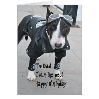 Gothic Bulldog Dad Your the Best Birthday Card