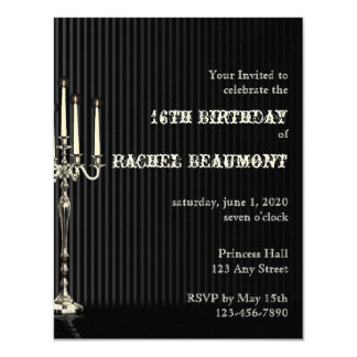 Gothic Candelabra Party Invitation