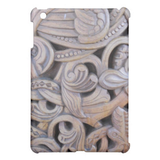 Gothic Carved Wood Weathered Case iPad Mini Cover