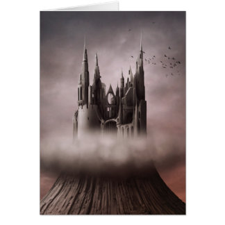 Gothic Castle Ruins Note Card