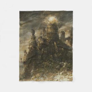 Gothic Castle Small Fleece Blanket