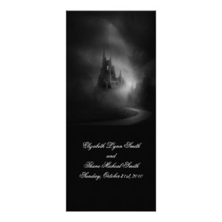 Gothic Castle Wedding Menu  Custom Rack Cards