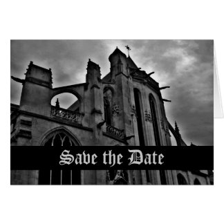 Gothic cathedral Save the Date Card