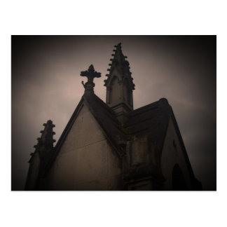 Gothic cemetery beautiful dark crypt post cards