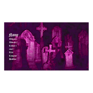 Gothic Cemetery Business Card