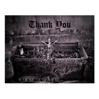 Gothic cemetery Thank You Postcard