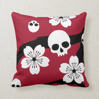 Gothic Cherry Blossoms Cushion