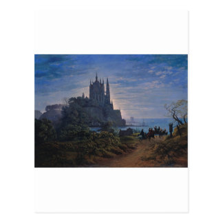 Gothic Church on a Rock by the Sea by K. Schinkel Postcard