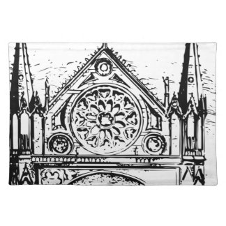 Gothic church painting placemat
