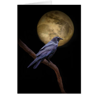 Gothic Cool Raven Halloween Card