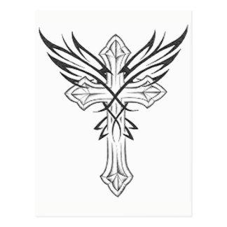 Gothic Cross Postcard