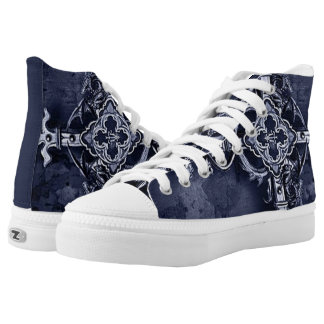 gothic cross shoes printed shoes