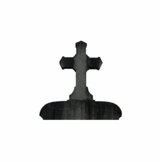 Gothic cross tombstone standing photo sculpture