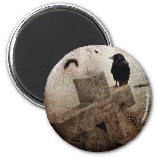 Gothic Crow Magnet