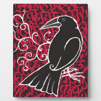 Gothic crow plaque