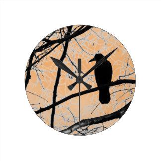 Gothic Crow Wall Clock