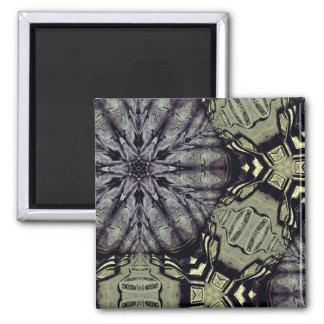 Gothic crypt mandala square magnet