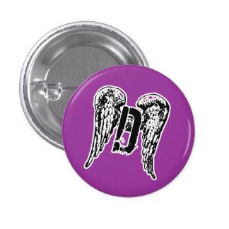Gothic D-Wings 3 Cm Round Badge