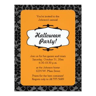 Gothic Damask Halloween Party Invitation