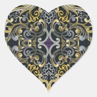 Gothic Dark Floral heart Sticker