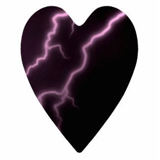 Gothic dark heart with lightning ornament photo sculpture decoration