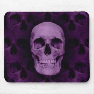 Gothic dark purple Halloween skull Mouse Pad