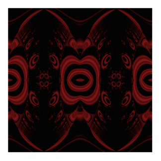 Gothic Deep Red and Black Floral design. Photo Cutout