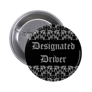 Gothic designated driver pinback buttons