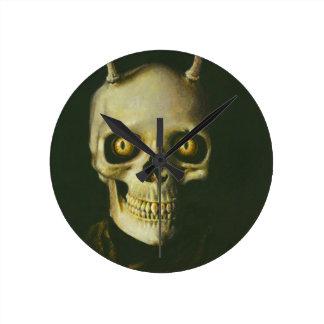 Gothic Devil Skull Clock