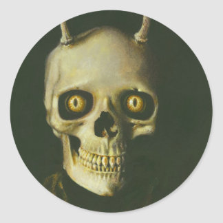 Gothic Devil Skull Sticker