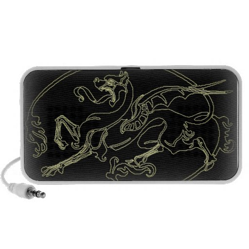 Gothic Dragon Fadeout print Mp3 Speakers