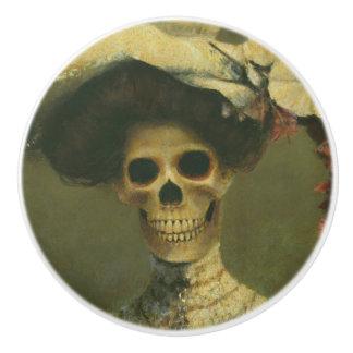Gothic Edwardian Skeleton Ceramic Knob