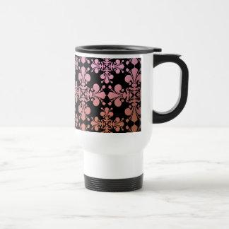 Gothic elegance fleur de lis damask 3 travel mug