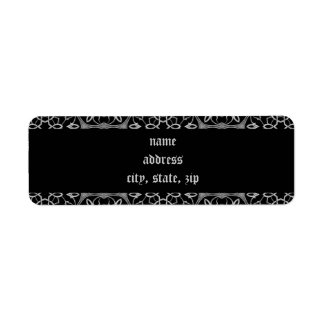 Gothic elegance return address label