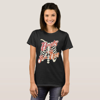 Gothic, Emo, t-shirt BEAUTY IS ONLY SKIN DEEP ribs