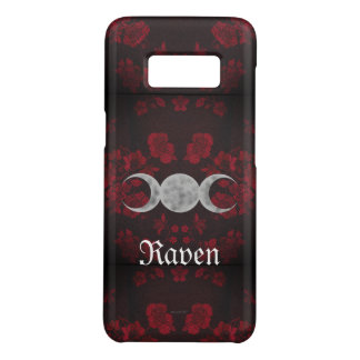 Gothic Eternal Triple Moon Red Case-Mate Samsung Galaxy S8 Case