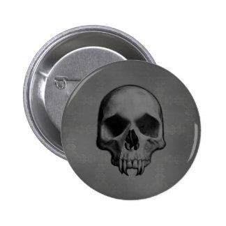 Gothic evil fanged skull Halloween horror Pin
