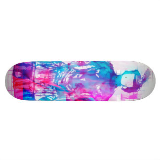 Gothic Faceless Woman Cotton Candy Skateboard