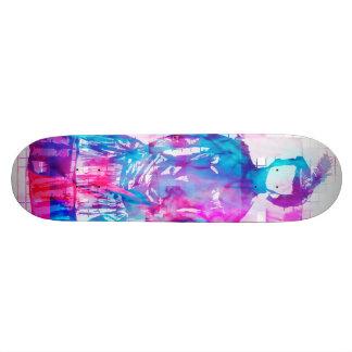 Gothic Faceless Woman Cotton Candy Skateboard