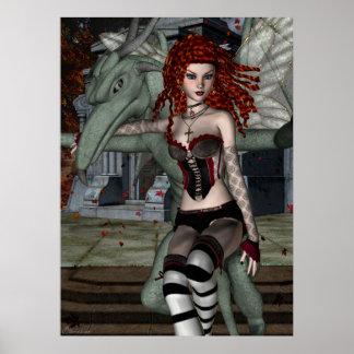 Gothic Fae Series BRIDGETTE Fantasy Art Poster