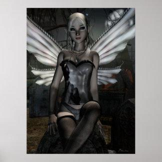 Gothic Fae Series TRINITY Fantasy Art Poster